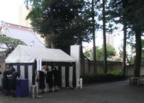 b妙法寺受付テント